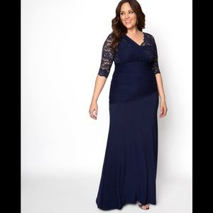 "Soiree Evening Gown ""Noctural Navy""."
